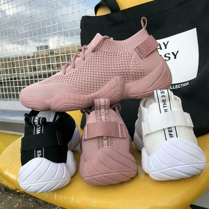 Women's Trainers Sport Running Sneakers Tennis shoes Casual Breathable Pink New