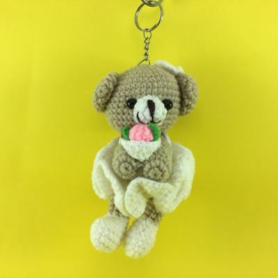 Teddy bear keychain, Crochet bear amigurumi, Mini bears bag charms ... | 400x400