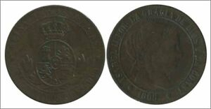 Espagne-Isabel-II-Annee-1868-numero-00141-MBC-2-1-2-Centimes-Maison-d-hotes-OM