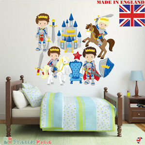 Knights and Castle Wall Stickers for Kids Bedroom Children Boys ...