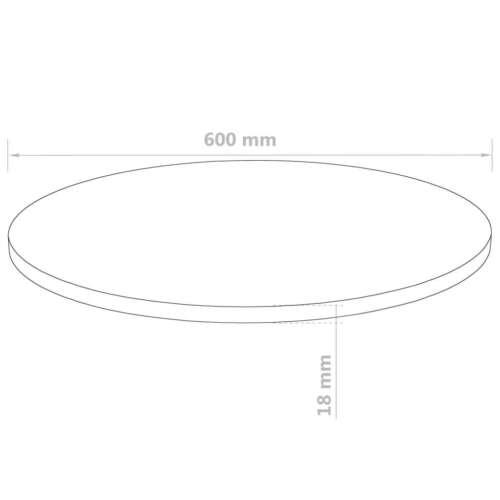18mm Tischplatte Rund MDF Holz Platte Scheibe für Esstisch Beige mehrere Auswahl
