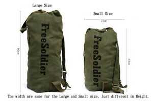 Army Military Canvas Waterproof Duffle Bag Surplus Bag Backpack Navy ... f7d4fe524ae