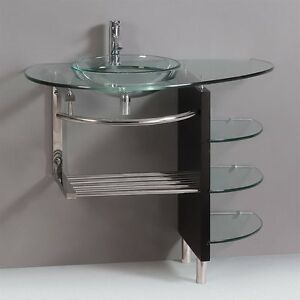 Image Is Loading Modern Bathroom Glass Bowl Clear Vessel Sink Amp