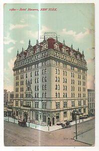 Hotel-Navarre-NEW-YORK-CITY-Manhattan-Vintage-NY-Postcard