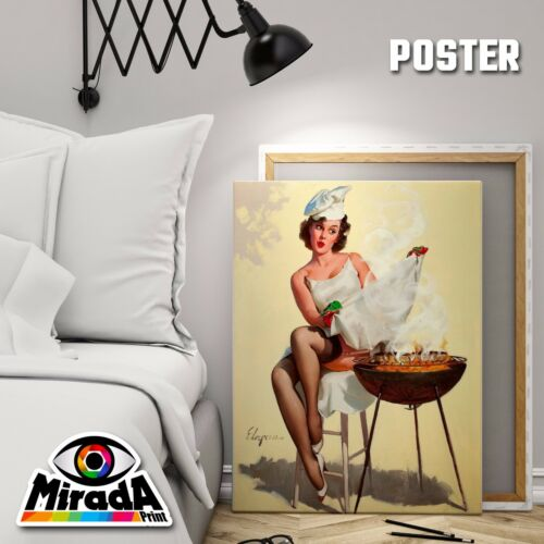 Poster Pin Up Vintage Girl 1950 Girl 18 Photo Paper 35x50 50x70 70x100
