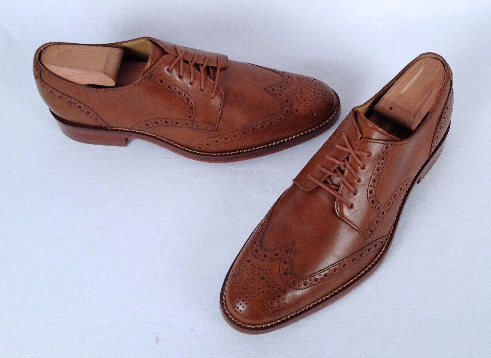 Cole Haan Wingtip Oxford British Tan Size 8 M   (CH2) Scarpe classiche da uomo