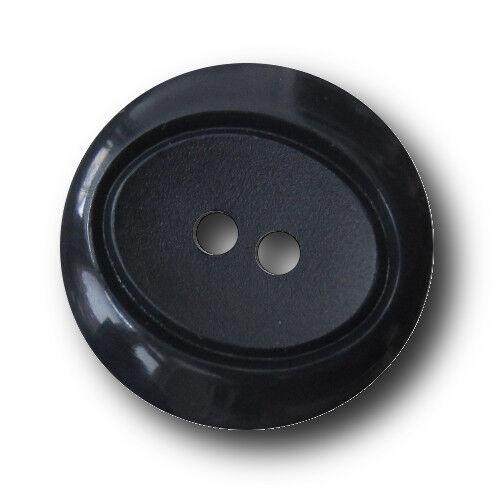 10 schicke dunkelblaue Zweiloch Kunststoff Knöpfe 5422bl