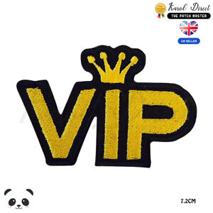 VIP-King-Embroidered-Iron-On-Sew-On-Patch-Badge-For-Clothes-Bags-etc