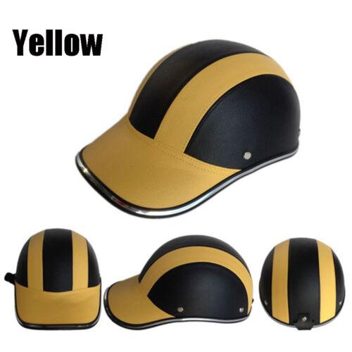 Motorcycle Scooter Bike Baseball Cap Style Half Open Face Safety Hard Helmet-Hat