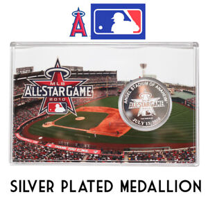 MLB-All-Star-Game-2010-Silver-Plated-Medallion-Limited-Edition-Angels-Stadium