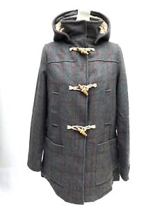 Topshop-Wool-Check-Borg-Duffle-Coat-SIZE-UK10-EUR38-US6-RRP-89-New
