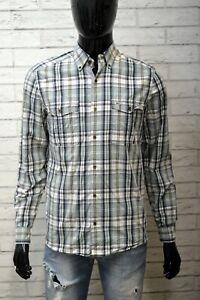Camicia-Uomo-LACOSTE-Camicetta-Taglia-38-M-Slim-Maglia-Manica-Lunga-Shirt-Men-039-s