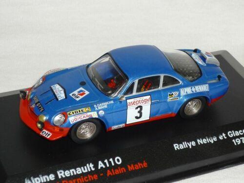 Renault Alpine A110 A 110 1972 Darniche Mahe Rally 1//43 Altaya By ixo Modellauto