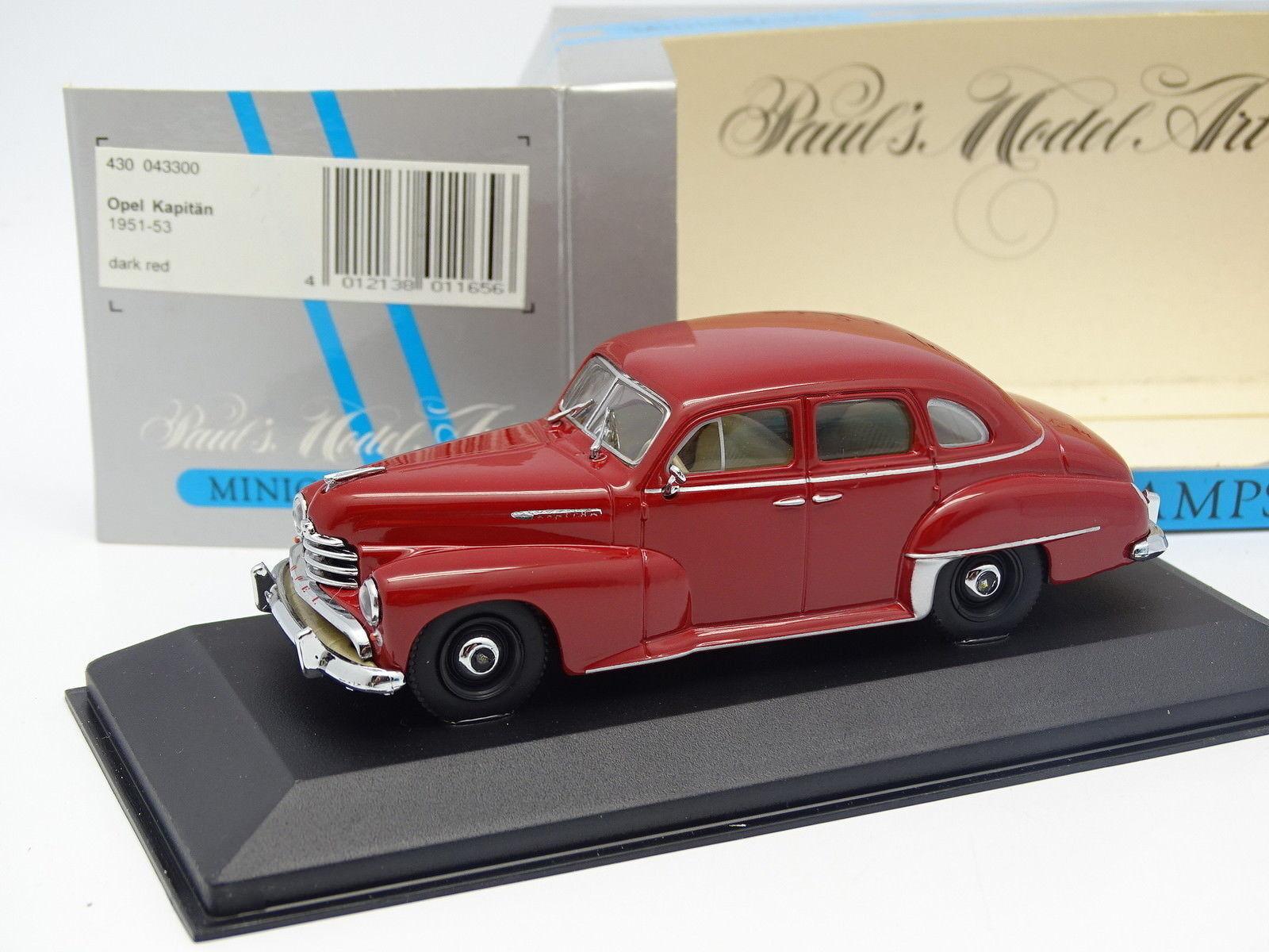 Minichamps 1 43 - Opel Kapitan 1951  Rouge