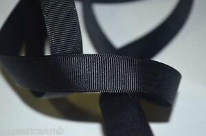 100 Yard Roll Black Fabric Grosgrain Ribbon 5/8 3/4 1 Bulk Craft Wedding Funeral