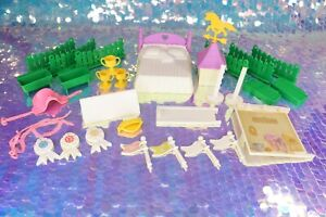 Vintage My Little Pony SHOW STABLE Playset Parts Doors Brush Jumps G1 MLP L076