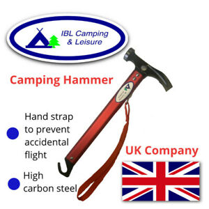 Mallet Hammer Tent Peg Stake Puller High-carbon Steel Shaft Camping Hiking Tool