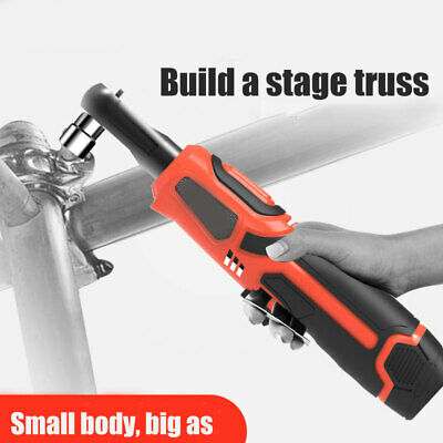 12V 3/8'' Electric Rechargeable Cordless Ratchet Wrench Right Angle Wrench Tools