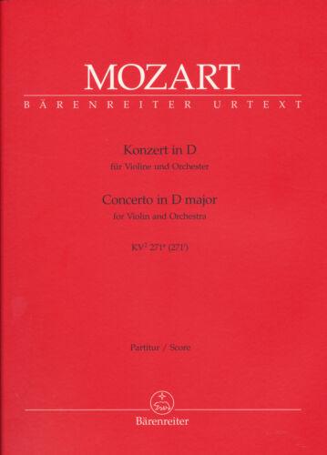 Mozart Partitur Konzert in D für Violine und Orchester