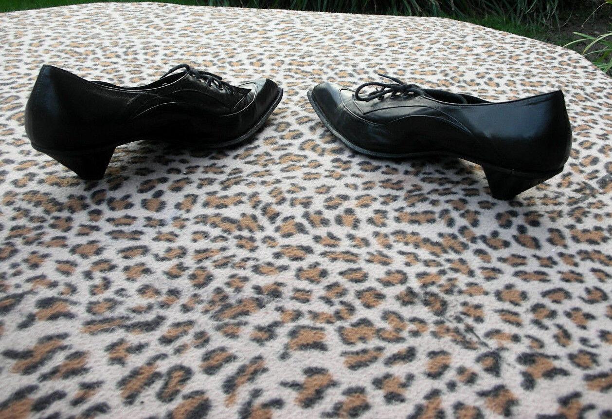 Vintage Vitamori collezione schwarz leather schuhe UK UK UK Größe 6 EU 39 3ff933
