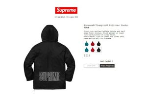 Image Is Loading In Hand Supreme X Champion Pullover Parka Ss18