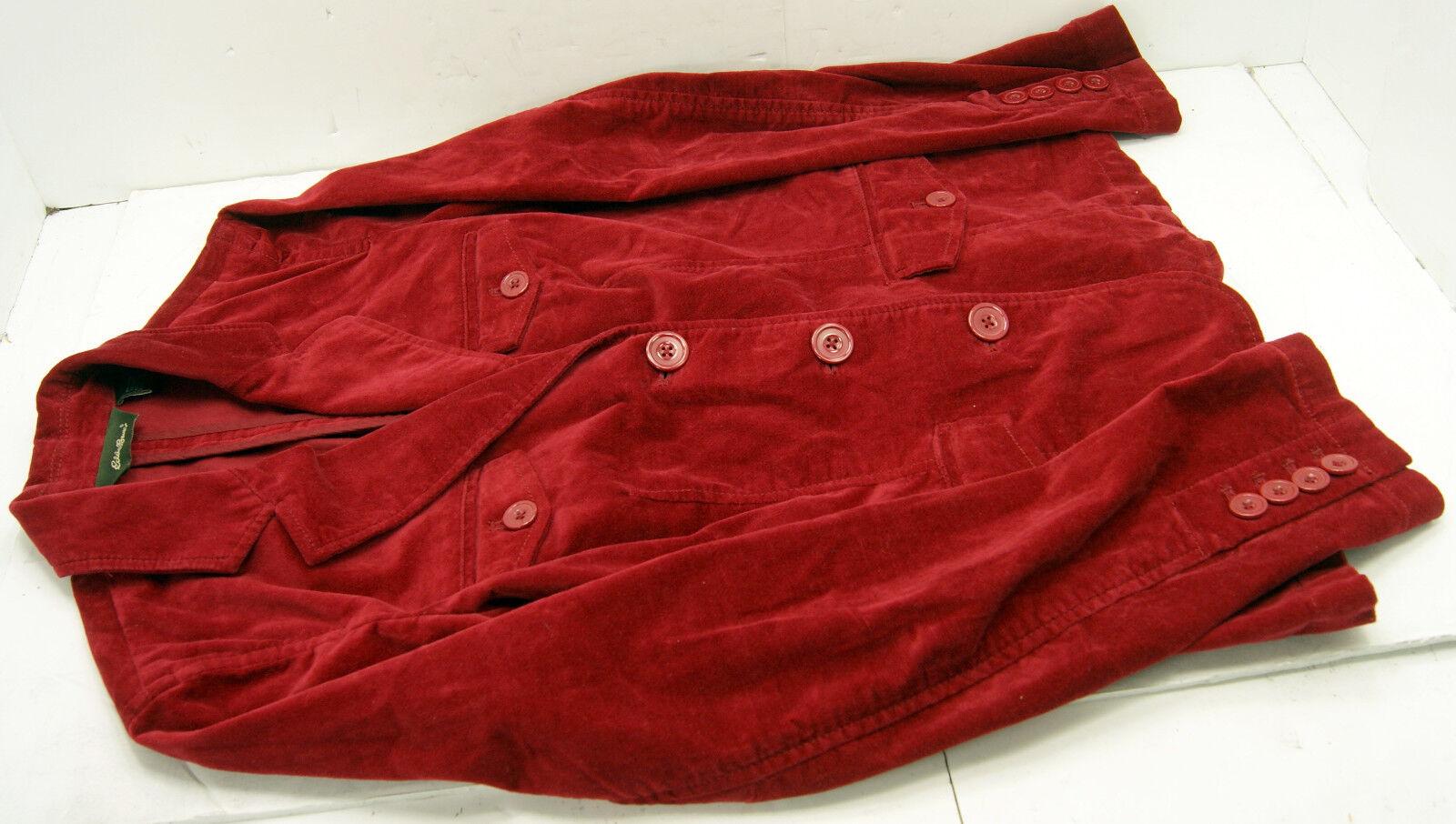 Eddie Bauer Red Velvet Women's Jacket Blazer Size… - image 6