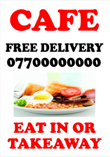 PERSONALISED BUSINESS // ADVERTISING FOAMEX BOARD SIGN CAFE PUB COFFEE SHOP