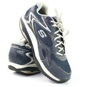largest selection of 2019 best selling unequal in performance Details about Skechers Shape Ups Mens Size 12 Wide Width Navy Blue Walking  Toning Shoes Rocker