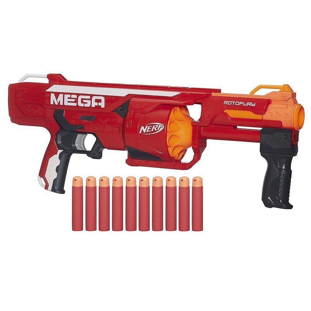 NUEVO Nerf N-Strike Elite Mega rojoofury Dart Blaster