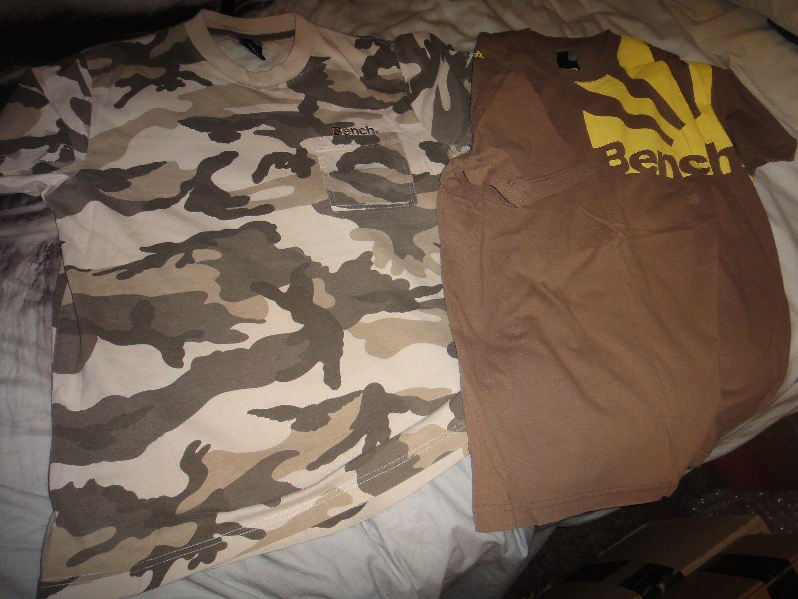 Bench Bungee Camo Brown T Shirt Size M