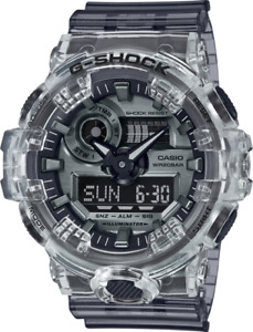 Casio G-Shock 57.5mm Resin Clear Case Resin Gray Band - (GA700SK-1A)