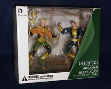 Injustice: Gods Among Us AQUAMAN vs. BLACK ADAM Action Figures DC Collectibles