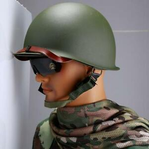 New-Cosplay-Outdoor-Army-Tactical-CS-Game-WWII-US-Military-Steel-ABS-M1-Helmet