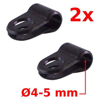 2 x Rotating Bike Brake Gear Cross Cable Tidy Clip Guides S Hook UK seller #225