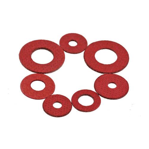 300pcs M3*6*1 Red Fibre Sealing Washers Metric M3 Flat Seal Washers