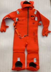 AQUATA 185 CM INSULATED IMMERSION SUIT SOLAS APPROVED THERMAL PROTECTIVE SUITS