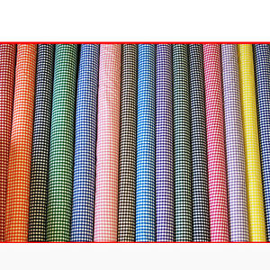 Gingham-POLYCOTTON-FABRIC-1-4-Inch-Check-per-1m-METRE-114cm-45-Wide