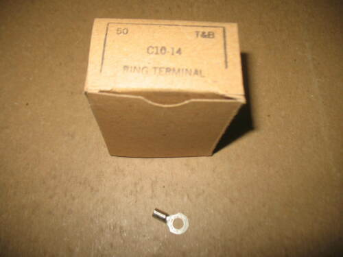 """T /& B STAKON C10-14 RING TERMINAL 1//4/"""" HOLE 12-10AWG WIRE CRIMP BOX OF 50"""
