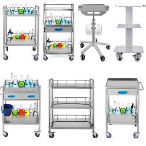 VEVOR Medical Trolley Cart Medical Dental Lab Serving Carts Trolley Big Drawer
