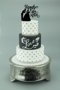 13cm High ACRYLIC WEDDING CAKE TOPPER HAPPILY EVER AFTER cake decorations
