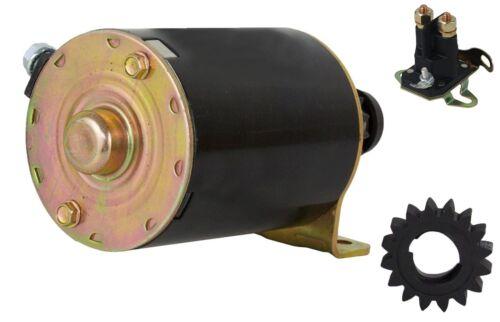 Anlasser Starter für Briggs /& Stratton mit Magnetschalter und Ersatzritzel