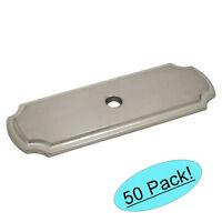 50 Pack Cosmas Cabinet Hardware Satin Nickel Cabinet Knob Backplates B-112sn