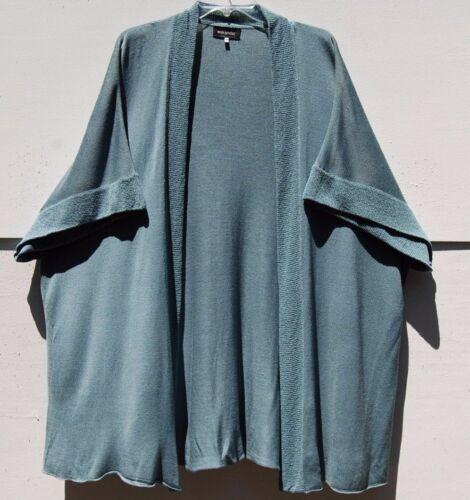 Poncho S Strik Light 100 Vægt Eskandar Silk Ny O Teal 1190 Cardigan Soft xf6P8a