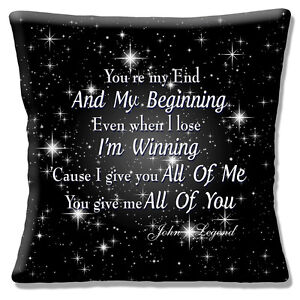 Image Is Loading John Legend Song Cushion Cover 16x16 Inch 40cm