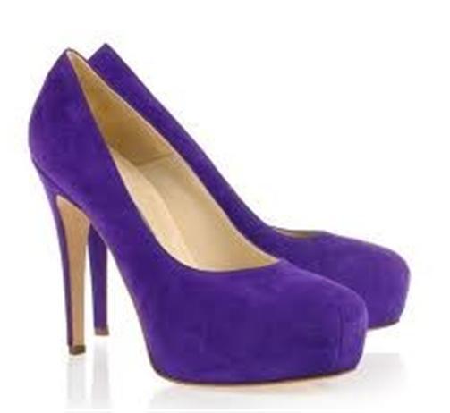 Brian Atwood MANIAC Suede Platform High Heel Pumps shoes Indigo Purple  580