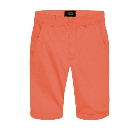 Homme Springfield Short Chino 100/% Coton Longueur Genou Casual moitié Pant Pantalon