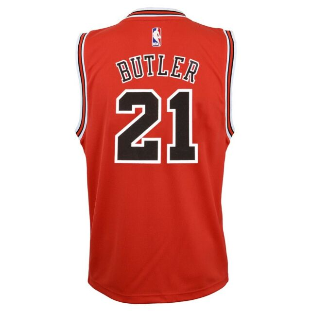 wholesale dealer 7da71 df538 Jimmy Butler NBA Chicago Bulls Official Road Red Player Replica Jersey Youth