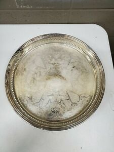15-034-Round-Sheffield-Silver-Plate-Serving-Tray-Platter-Drink-Reed-and-Barton