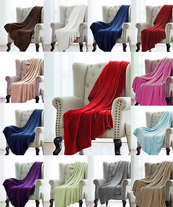 1-Solid-Soft-Warm-Versatile-Small-Throw-Lightweight-Travel-Micro-Plush-Blanket