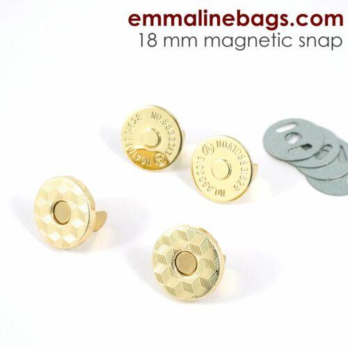 range of finishes Emmaline bags MAGNETIC SNAP closure 14mm slim